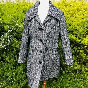 Katies Vintage Style Wool and Acrylic Trench Coat